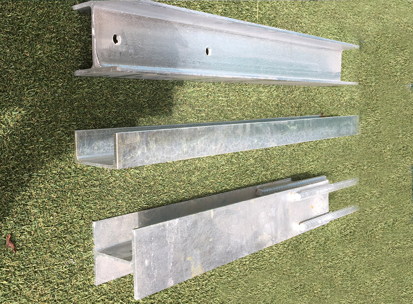 Galvanised Retaining Wall Steel posts 100 and 150UC and PFC H-posts and C-posts (click to see full range)