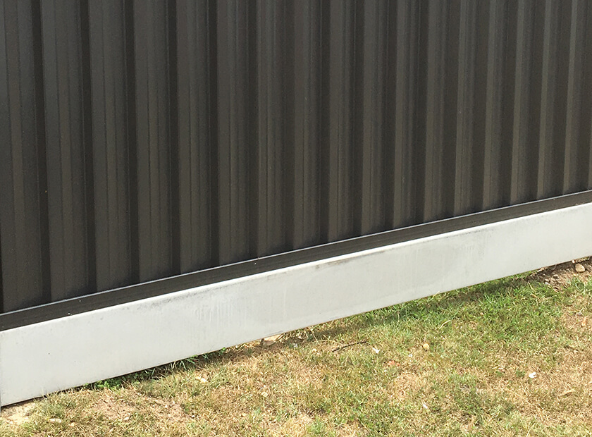 colorbond fence concrete sleepers (click to view)